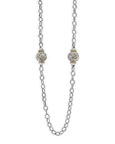 Torsade Knot Station Necklace, 36