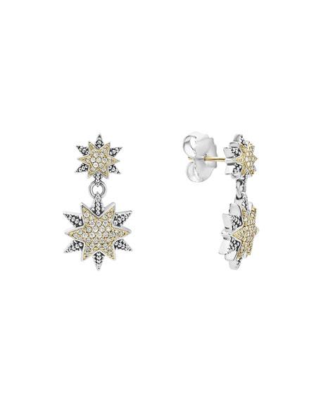 Lagos Diamond Double-Star Drop Earrings