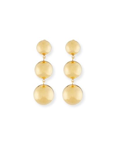 Round Triple-Drop Earrings