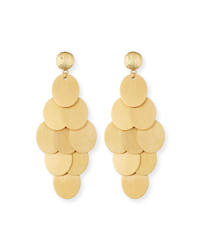 Brushed Cluster Statement Earrings