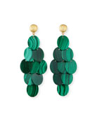 Malachite Cluster Statement Earrings