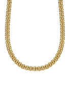"""Mini 18K Gold Rope Necklace, 16"""""""
