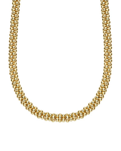 Mini 18K Gold Rope Necklace, 16