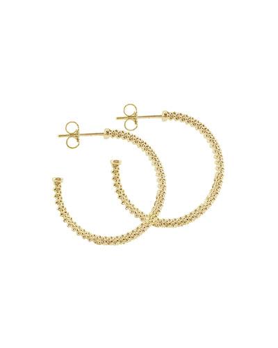 25mm 18K Gold Caviar Hoop Earrings