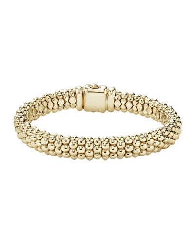 18k Gold Signature Caviar Rope Bracelet