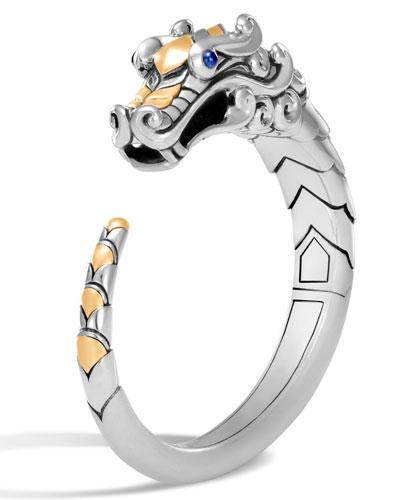 Legends Naga 18K Gold & Silver Medium Kick Cuff Bracelet