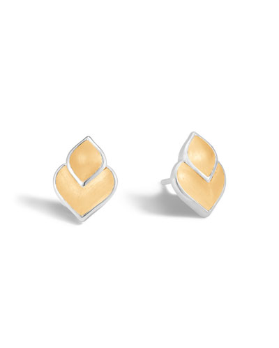 Legends Naga 18K Gold & Silver Stud Earrings