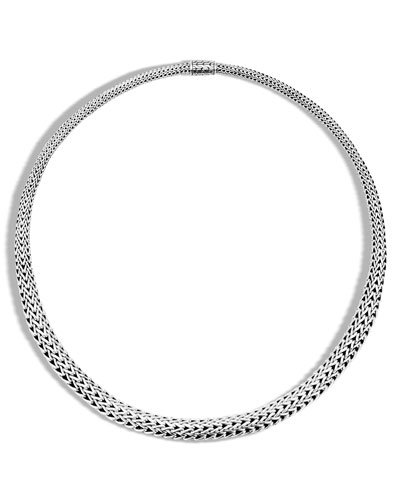 Classic Chain Silver Graduated Necklace