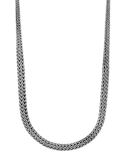 Classic Chain Silver Graduated Necklace, 36
