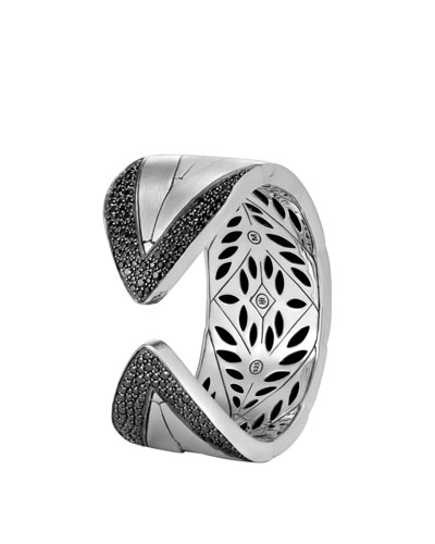 Modern Chain Silver Large Kick Cuff Bracelet