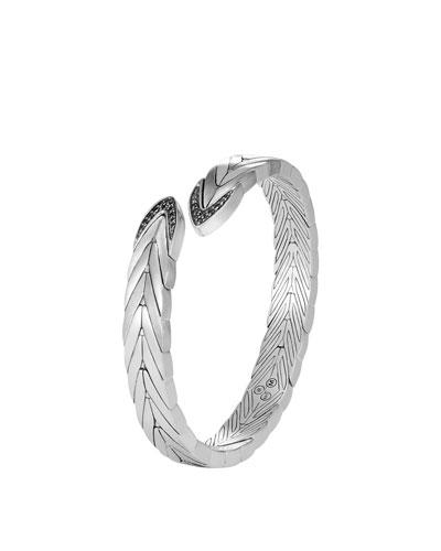Modern Chain Silver Small Flex Cuff Bracelet