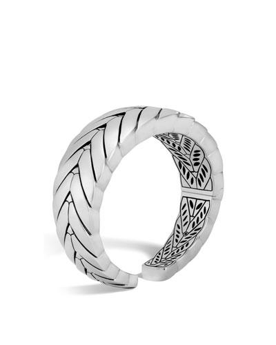 Modern Chain Silver Medium Kick Cuff Bracelet