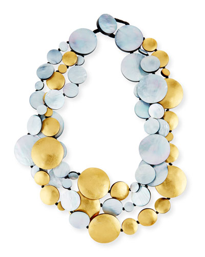 Viktoria Hayman Geometric Mother-of-Pearl Collar Necklace VWe8W
