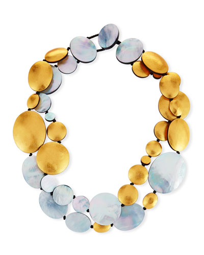 Two-Strand Disc Necklace