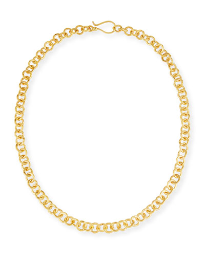 Hill Tribe Chain Necklace, 18