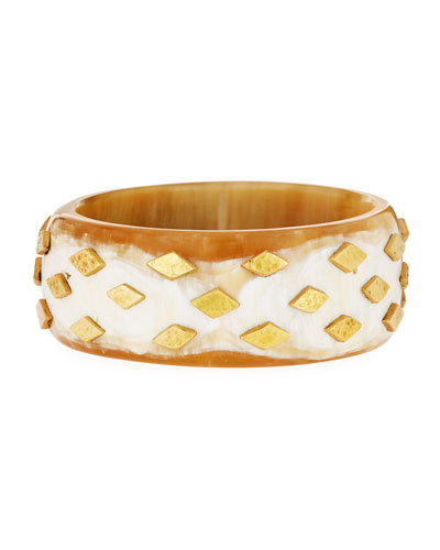 Mila Studded Light Horn Bangle