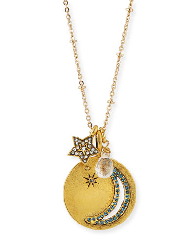 Moon & Star Talisman Pendant Necklace
