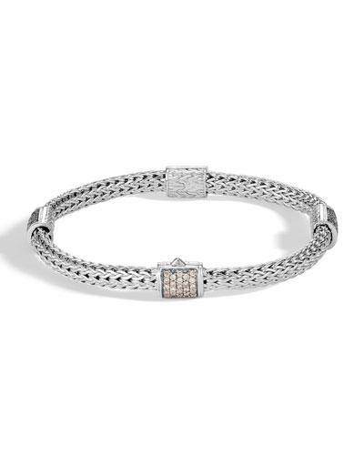 Pave Diamond Station Bracelet