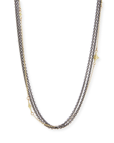 Old World Multi-Strand Chain Necklace