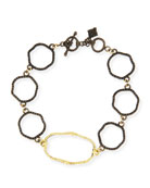 Armenta Old World Wavy Circle Link Bracelet with