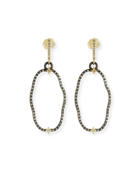 Armenta Old World Open Oval Drop Earrings with Diamonds