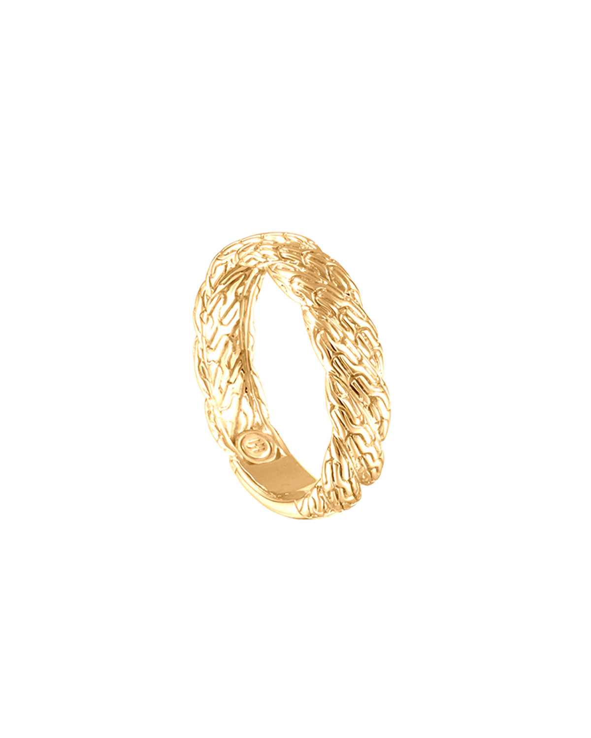 Classic Chain Twisted 18k Gold Ring