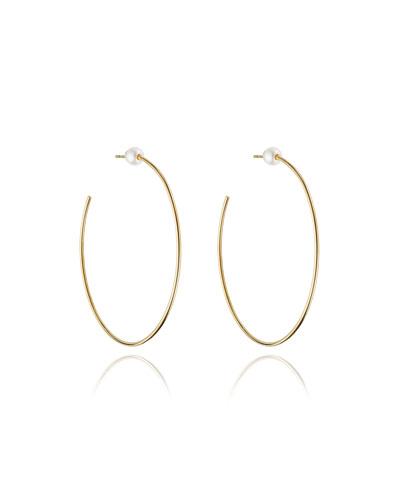 Sfera Pearl Stud Hoop Earrings