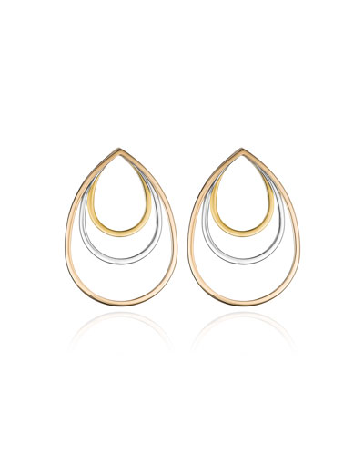 Sophia Concentric Teardrop Earrings