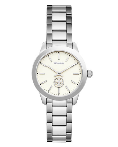 32mm Collins Stainless Steel Two-Hand Bracelet Watch