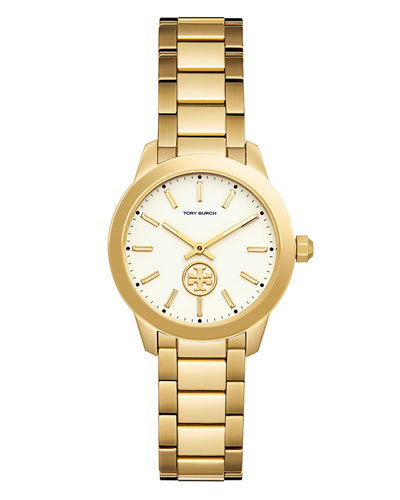 32mm Collins Two-Hand Bracelet Watch, Golden