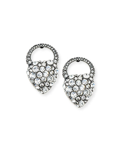 Nina Crystal Heart Stud Earrings