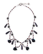 Rose Crystal Statement Necklace