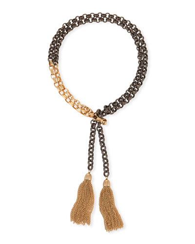 Hipchik Theodore Chain Tassel Necklace BmcBb0erVh