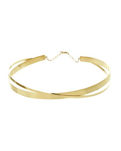 Small Twist Gloss Choker Necklace