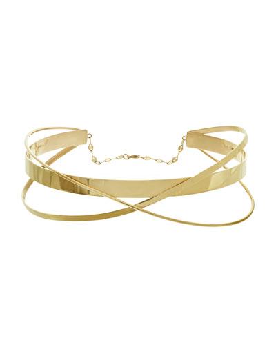 Large Twist Gloss Choker Necklace
