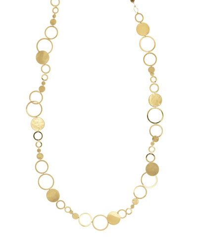 Multi-Disc Long Layer Necklace, 32
