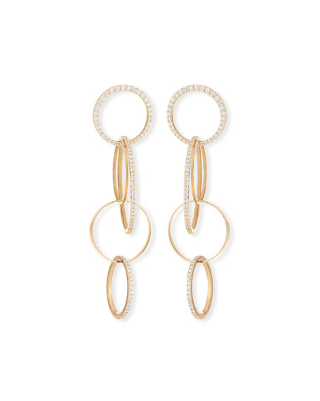 Lana Flawless 14k Gold Diamond Bond Link Earrings