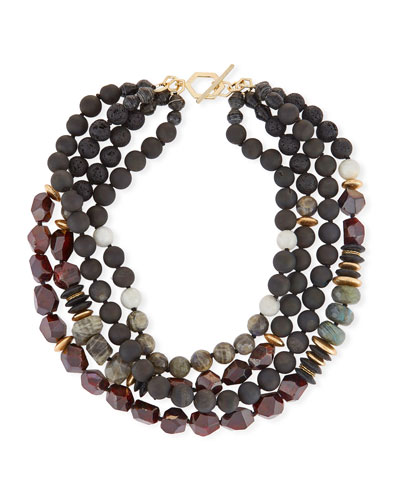 Four-Strand Beaded Necklace