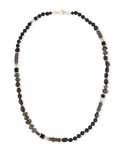 Beaded Moonstone Necklace