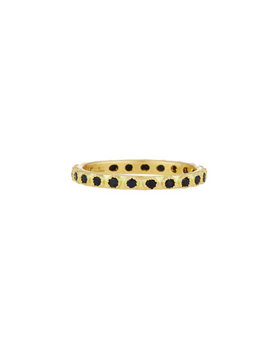 Old World Black Sapphire Stacking Ring