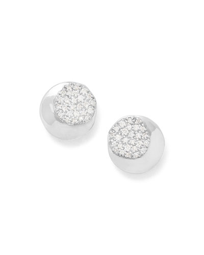 Onda Stud Earrings with Diamonds