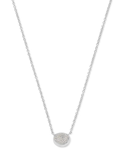 925 Onda Single Necklace with Diamonds