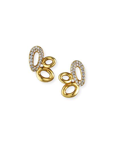 18K Cherish Cluster Earrings with Diamonds