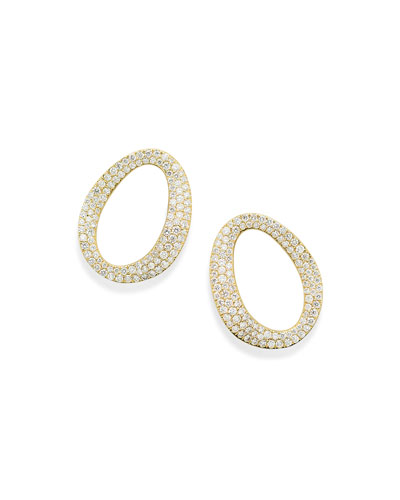 Cherish Small Link Earrings with Diamonds