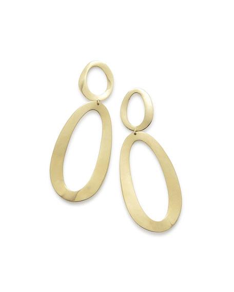 Ippolita Cherish 18K Gold Large Snowman Earrings