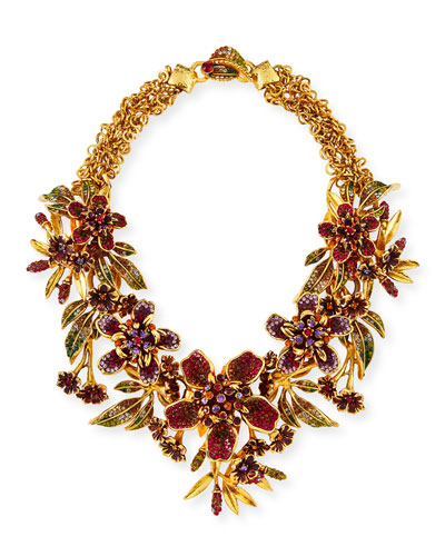 Floral Garland Statement Necklace