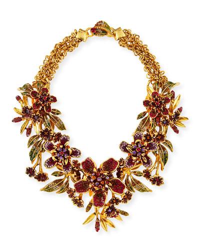 Floral Garland Statement Necklace