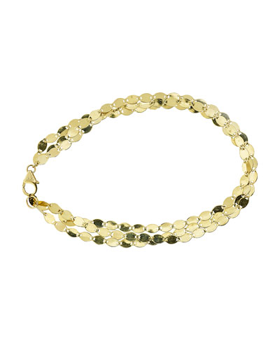 Nude Multi-Strand Chain Bracelet in 14K Gold