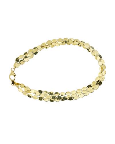 Nude Multi-Strand Chain Bracelet in 14K Gold