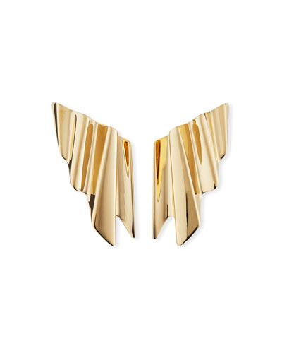 Ruffle Clip-On Earrings